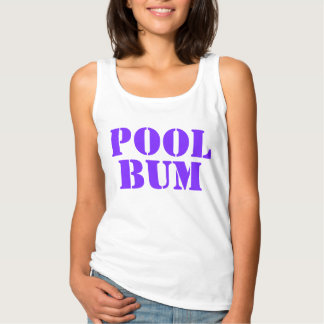 Cute Fun Summer Pool Bum Text Tank Top