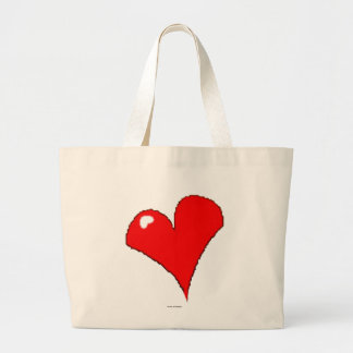 Cute Fun Trendy Girly Red Heart / House of Grosch Large Tote Bag