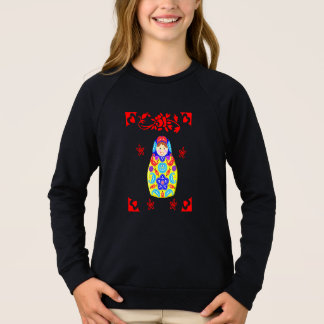 Cute Fun Whimsy Matryoshka Russian Doll Graphic Sweatshirt
