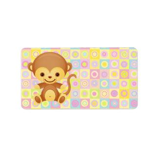 Cute Funky Pattern Monkey