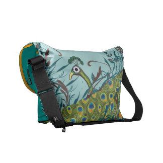 Cute Funky Vintage Peacock You Choose Colors Messenger Bag