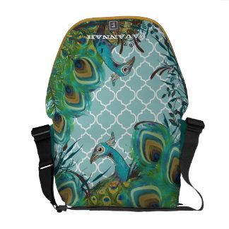 Cute Funky Vintage Peacock You Choose Colors Messenger Bags