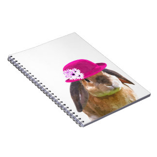 Cute funny adorable rabbit bunny animal girly note book