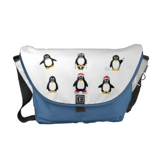 Cute, Funny and Crazy Cartoon Penguins Commuter Bags