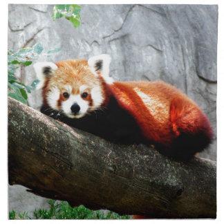cute funny animal red panda napkin