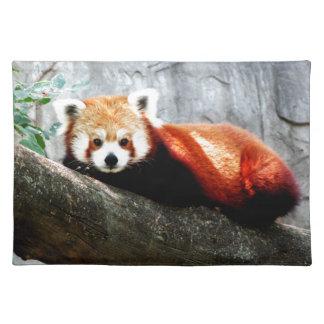 cute funny animal red panda placemat