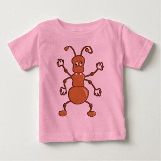 Cute funny Ant cartoon Baby T-Shirt