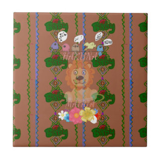 Cute funny Baby Lion King Hakuna Matata latest edg Ceramic Tiles