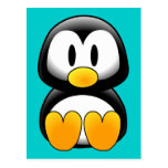 Cute Funny Baby Penguin Postcard