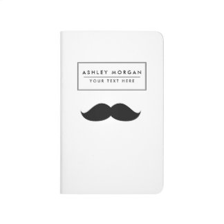Cute Funny Black Mustache Journal