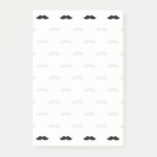 Cute Funny Black Mustache Post-it Notes