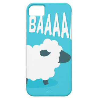 Cute funny blue cartoon bleating sheep case for the iPhone 5
