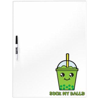 Cute Funny Bubble Tea Humor - Suck My Balls Dry Erase Whiteboards
