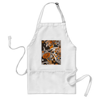 Cute Funny Calico Cat Playing Saxophone Art Standard Apron