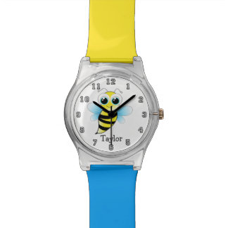 Cute Funny Cartoon Bee Personalized Watch