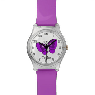 Cute Funny Cartoon Butterfly Personalized Watch