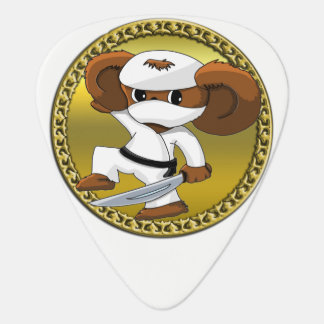 Cute funny cartoon Cheburashka bear with a sword Guitar Pick