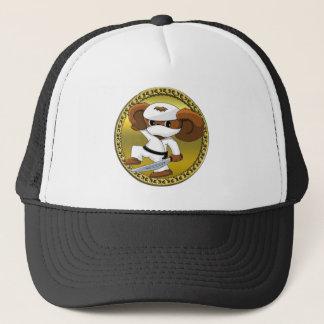 Cute funny cartoon Cheburashka bear with a sword Trucker Hat