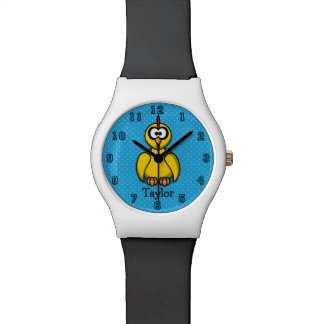 Cute Funny Cartoon Chicken Personalized Watch