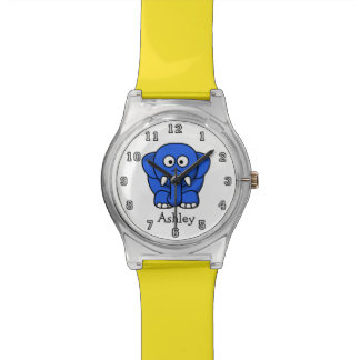 Cute Funny Cartoon Elephant Personalized Watch