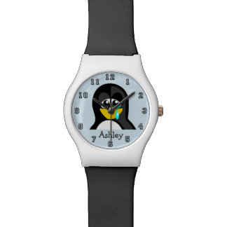 Cute Funny Cartoon Penguin Personalized Watch