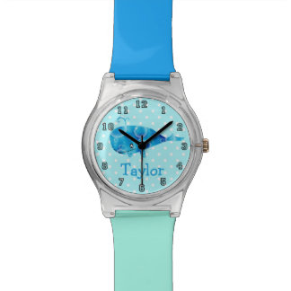 Cute Funny Cartoon Whale Personalized Watch