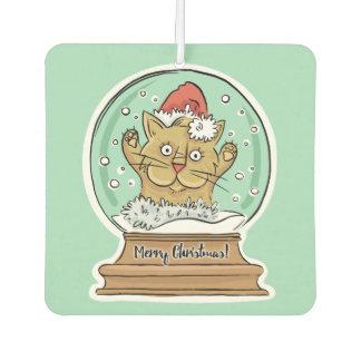 Cute Funny Christmas Cat air freshner Air Freshener