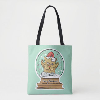 Cute Funny Christmas Cat bags