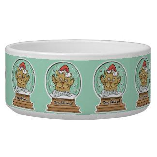 Cute Funny Christmas Cat pet bowls