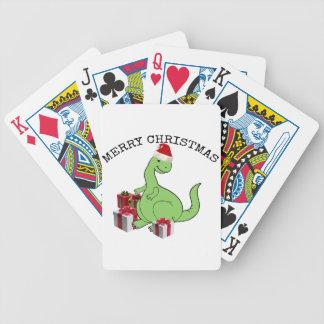 Cute funny  Christmas Santa dinosaur Bicycle Playing Cards