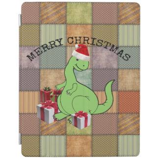 Cute funny  Christmas Santa dinosaur iPad Cover