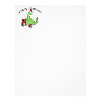 Cute funny  Christmas Santa dinosaur Letterhead