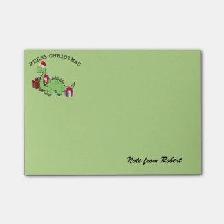 Cute funny  Christmas Santa dinosaur Post-it Notes