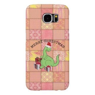 Cute funny  Christmas Santa dinosaur Samsung Galaxy S6 Cases
