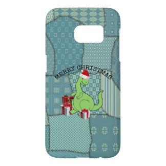 Cute funny  Christmas Santa dinosaur Samsung Galaxy S7 Case