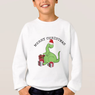 Cute funny  Christmas Santa dinosaur Sweatshirt