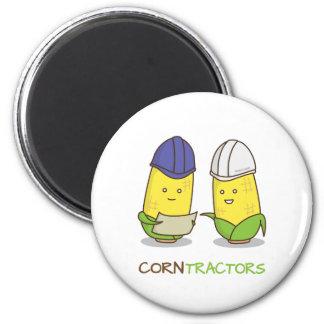 Cute Funny Corn Contractors Punny Humor Magnet