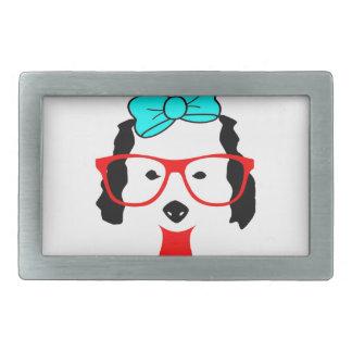 Cute Funny Dog Head Drawing Belt Buckle