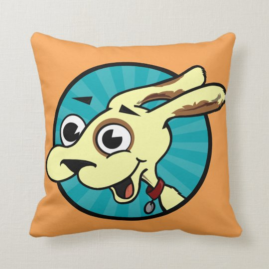 CUTE FUNNY DOG SQUARE THROW PILLOW