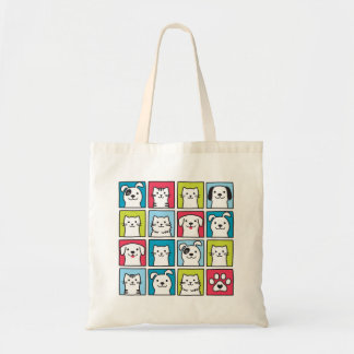 Cute, funny dogs & cats design tote bag