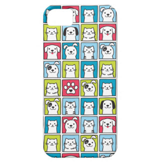 Cute, funny dogs & cats pattern case for the iPhone 5