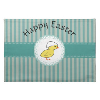 Cute funny Easter chicken Placemat