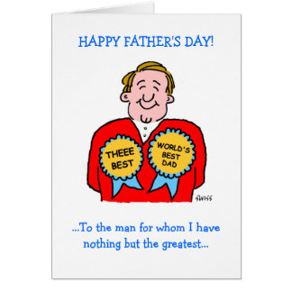 Cute Funny Fathers Day Greeting Card