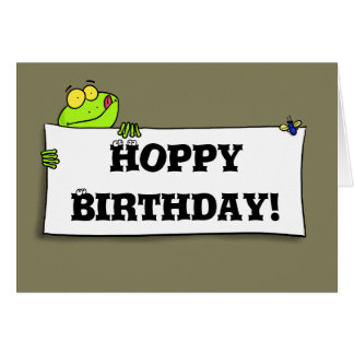 Cute funny frog birthday card
