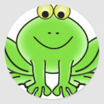 Cute Funny Frog Round Sticker