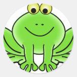 Cute Funny Frog Sticker