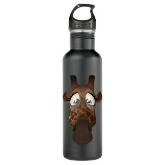 Cute Funny Giraffe Face 710 Ml Water Bottle