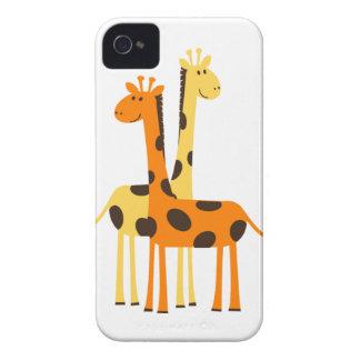 Cute Funny Giraffe Pair Case-Mate iPhone 4 Case