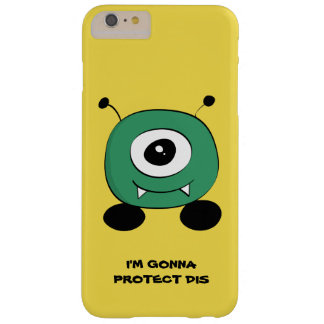 Cute Funny Green Alien Barely There iPhone 6 Plus Case
