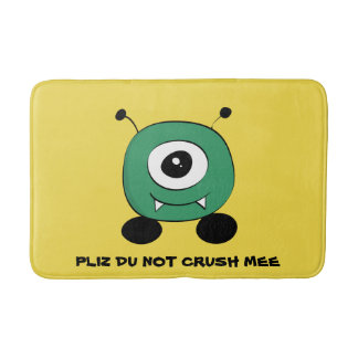 Cute Funny Green Alien Bath Mat